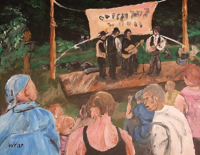 Figural, Menschen, Musik, Acrylmalerei, Malerei