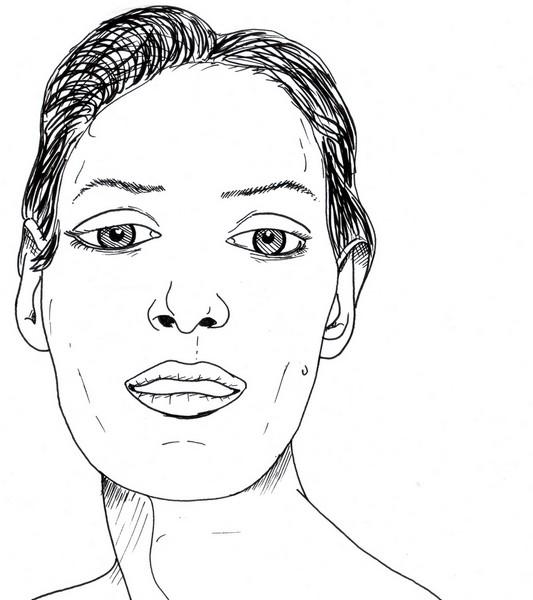 Skizze Gesicht