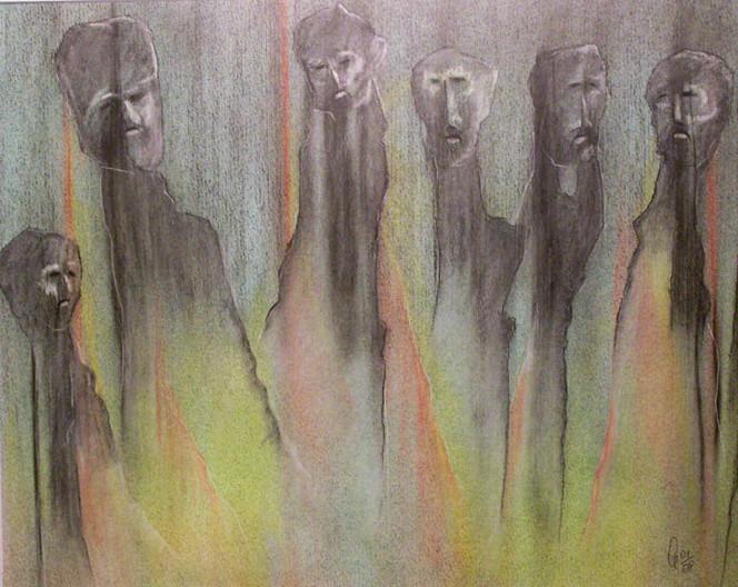 Gespenst, Geist, Pastellmalerei, Schatten, Zeichnungen, Surreal