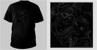 Shirt, Mode, Schwarz, Weiß