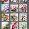Kalender, Blumenaquarelle, Aquarell, Blumen