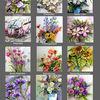 Blumenaquarelle, Kalender, Blumenkalender, Pinnwand