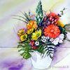 Strauß, Blumen, Aquarell, Aquarelle blumen