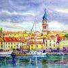 Insel, Kroatien, Stadt, Stadtansicht