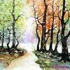 Weg, Baum, Herbst, Wald