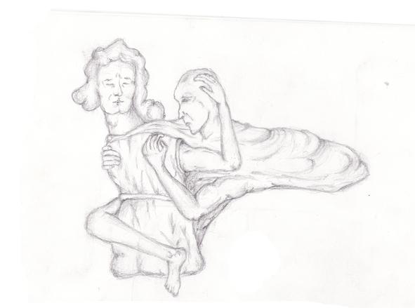 Zeichnungen, Portrait, Erzengel