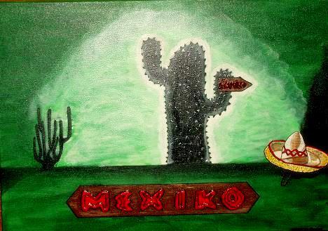 Urlaub, Hut, Kaktus, Mexiko, Reise, Acapulco