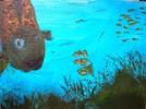 Meer, Blau, Fische, Kinderbild