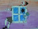 Erde, Marionette, Fenster, Früh