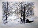 Pürschling, Aquarellmalerei, Berge, Schnee