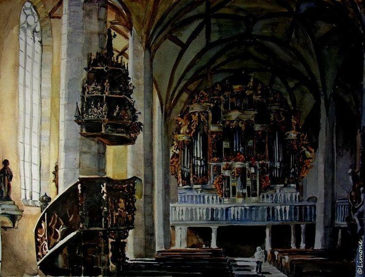 Aquarellmalerei, Architektur, Dom, Aquarell