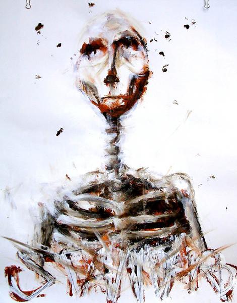 Skelett, Person, Portrait, Diktat, Mode, Kopf
