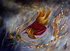 Ölmalerei, Tuch, Fantasie, Wind