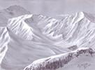 Deckweiß, Landschaft, Zeichnen, Berge