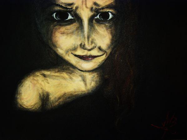 Augen, Dunkel, Frau, Gesicht, Schatten, Mimik