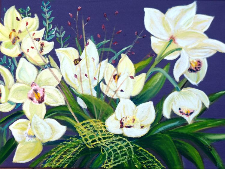 Herbst, Blätter, Orchidee, Pflanzen, Frühling, Blüte