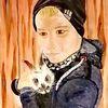 Junge, Hase, Portrait, Kind