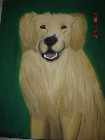 Ölmalerei, Hund, Malerei, Tiere, Sam