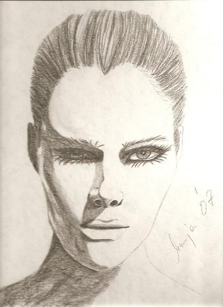 Gesicht, Bleistiftzeichnung, Model, Portrait, Zeichnungen