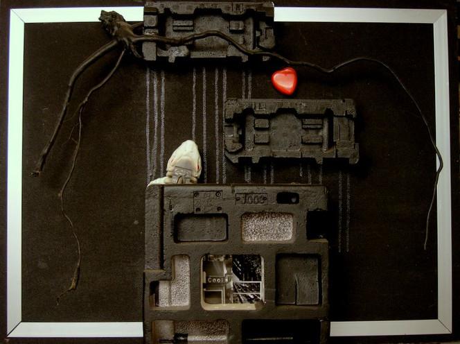 Einsamkeit, Stadt, Cool, Acrylmalerei, Kalt, Plasik