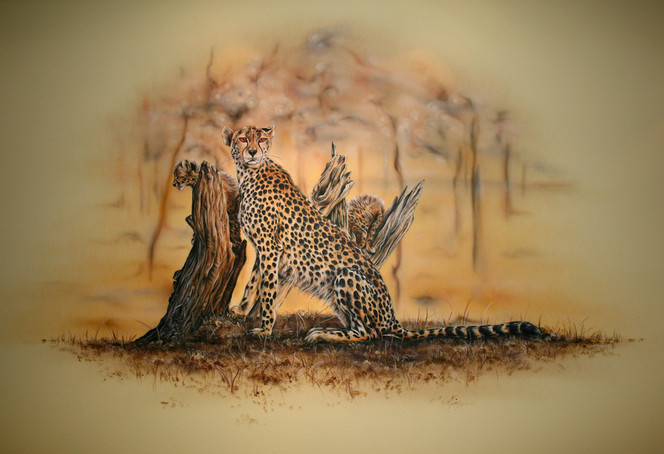 Malerei, Figural, Gepard