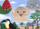 Landschaft, Acrylmalerei, Tiere, Malerei