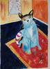 Aquarellmalerei, Malerei, Stillleben, Katze