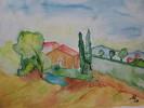 Aquarellmalerei, Malerei, Toskana