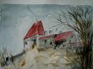 Aquarellmalerei, Malerei, Burg