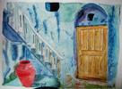 Landschaft, Aquarellmalerei, Malerei, Griechenland