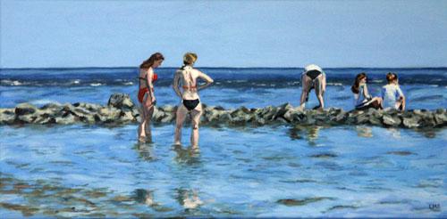Mädchen, Wasser, Akt, Nordsee, See, Baden