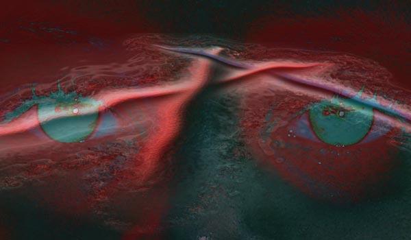 Augen, 3d, Fotografie, Model, Korallenriff, Meer