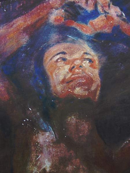 Blau, Anmut, Portrait, Braun, Stolz, Malerei
