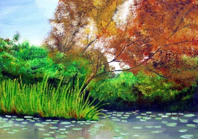 Wald, Wasser, Malerei