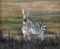 Landschaft, Tiere, Natur, Pastellmalerei