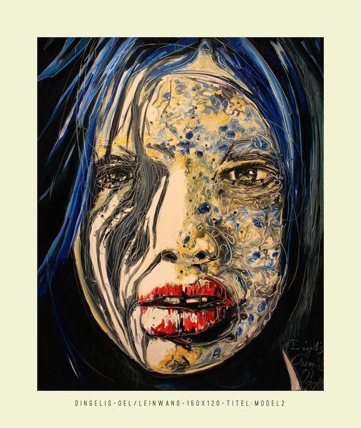Gesicht, Hunger, Malerei, Model,