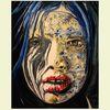 Hunger, Gesicht, Malerei, Model