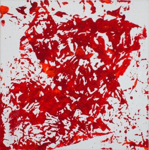 Abstrakt, Rot, Acrylmalerei, Struktur, Malerei, Herbstlaub