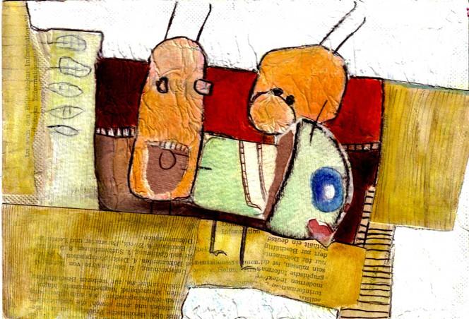 Collage, Illustration, Malerei