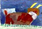 Illustration, Collage, Malerei, Hase