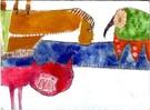 Illustration, Malerei, Collage, Tiere