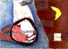 Collage, Illustration, Malerei, Nest
