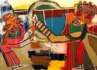 Macht, Zweifel, Ölmalerei, Abstrakt