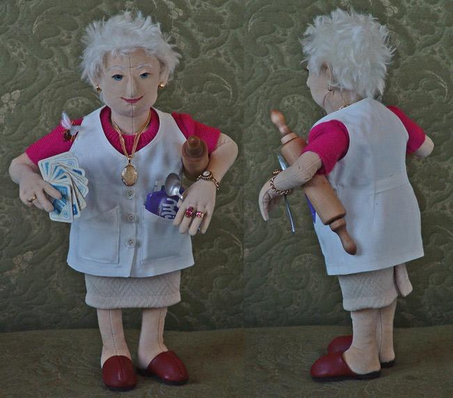 Meine Oma Puppe Oma Textil Figur Von Orlando Bei Kunstnet
