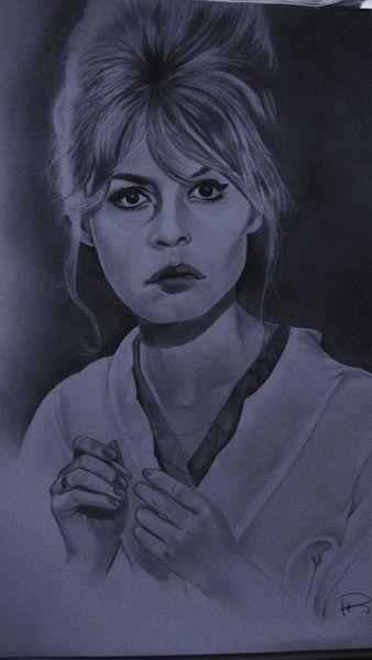 Bleistiftzeichnung, Bardot, Zeichnen, Zeichnungen, Portrait,