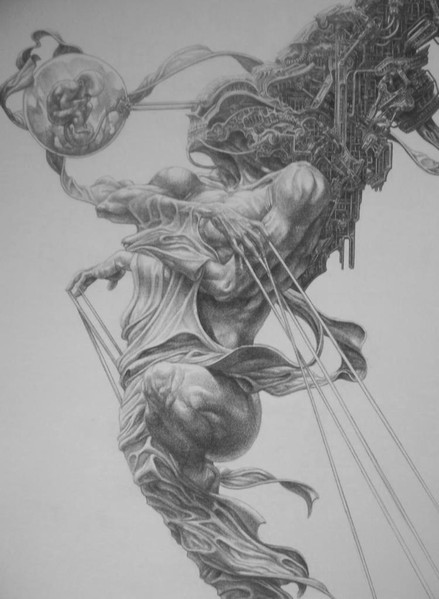 Tod, Leben, Surreal, Zeichnung, Zeichnungen