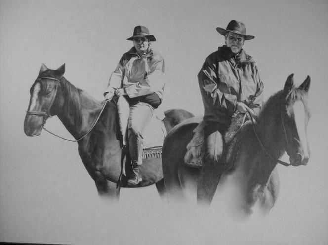 Reiter, Portrait, Zeichnung, Pferde, Menschen, Zeichnungen