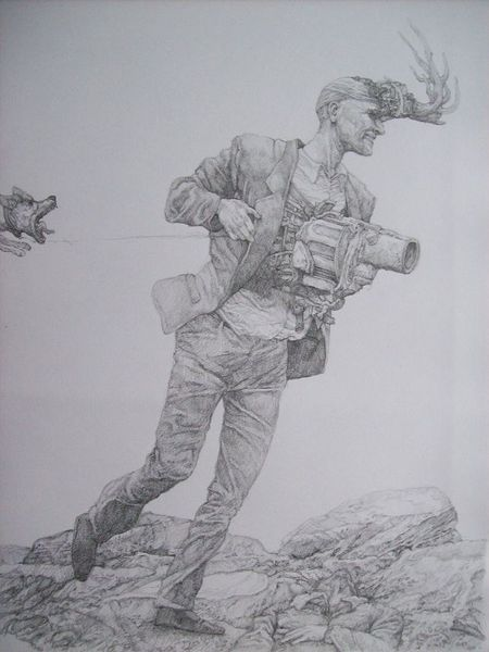 Waffe, Zeichnung, Menschen, Krieg, Surreal, Malerei