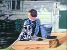 Milch, Besitzer, Malerei, Katze