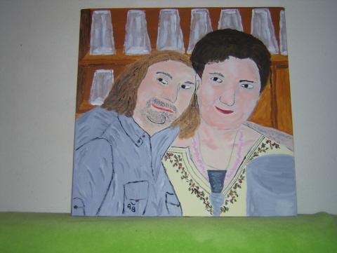 Portrait, Acrylmalerei, Menschen, Malerei, Freunde